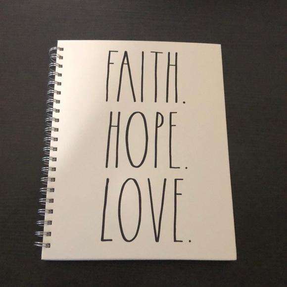 """Rae Dunn """"Faith.Hope.Love."""" Notebook"""